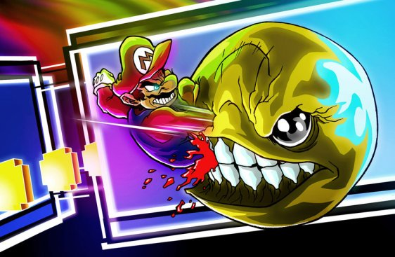 mario_vs__pac_man_by_hermesgildo-d32lq4b